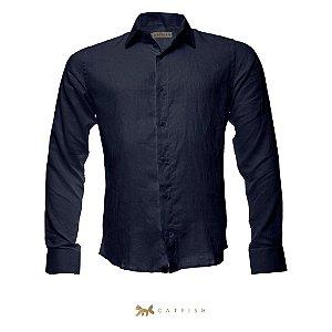 Camisa CATFISH Linho ML Marinho