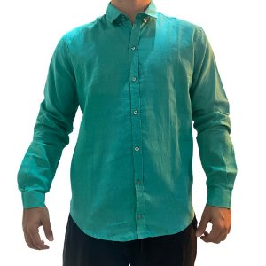 Camisa CATFISH Linho ML Verde Água