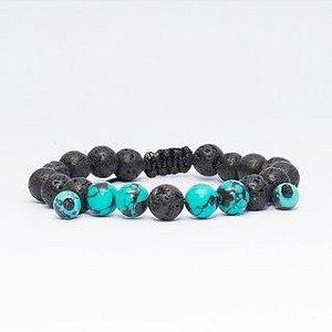 Pulseira OCCHIALI Pedras Black/Blue