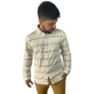 Camisa Naturals JAB ML Striped Khaki