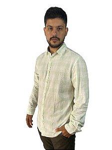 Camisa Soft Colors JAB Manga Longa Xadrez Verde