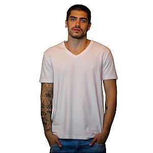 Camiseta JAB Gola V Branca