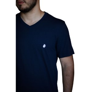 Camiseta VON DER VÖLKE Basis Gola V Marinho
