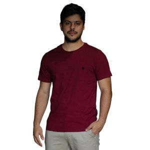 Camiseta VON DER VÖLKE Basis Vinho