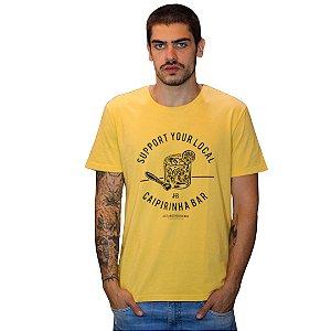 Camiseta JAB Caipirinha Amarelo