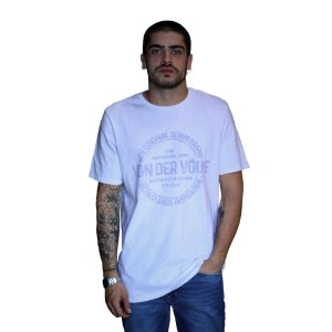 Camiseta VON DER VÖLKE Stamp Branco