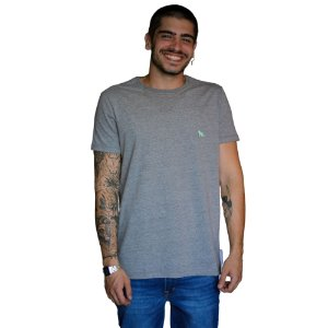 Camiseta ACOSTAMENTO Básica Mescla Grafite