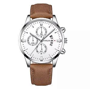 Relógio JIANUO Silver/Brown