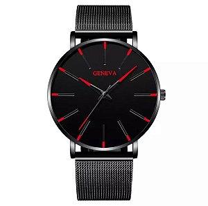 Relógio GENEVA Red/Black