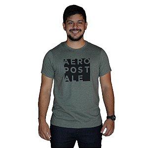 Camiseta AEROPOSTALE Sílabas Verde Militar