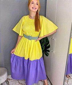 Vestido Bicolor Coleção Bardho