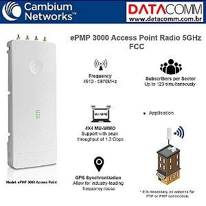 CAMBIUM RADIO EPMP 3000 AP AC 4X4 MU-MIMO C050910A601A