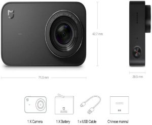 Câmera sportiva Xiaomi Mi Action Camera 4K YDXJ01FM black