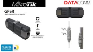 Mikrotik Gper Repetidor de rede Ethernet Passivo Gigabit