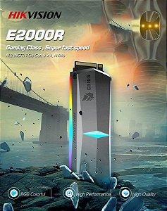 SSD Hikvision E-2000R 512GB, M.2 NVME, Leitura 3300MBs e Gravação 2100MBs, HS-SSD-E2000R-512GB