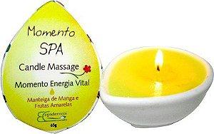 Candle Massage Momento Energia Vital 65g - Epidermis