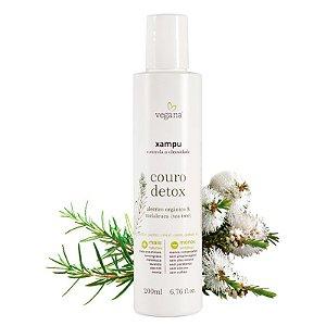 Shampoo Couro Detox Tea Tree 200Ml - Vegana