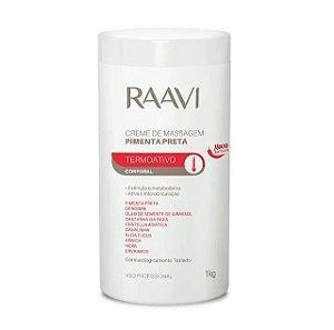 Creme de Massagem Pimenta Preta 1kg - Raavi