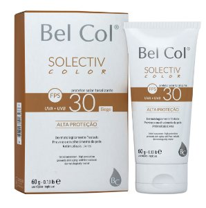 Solective Color FPS 30 Protetor Solar com Tonalizante - Bege 60 G - Bel Col