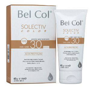 Solective Color FPS 30 Protetor Solar com Tonalizante - Areia Intenso 60 G - Bel Col