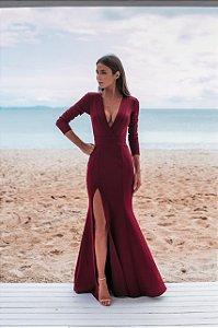 Vestido Andressa Marsala
