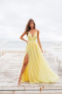 Vestido Carol Amarelo