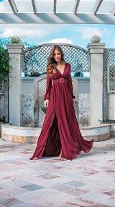 Vestido Georgia marsala