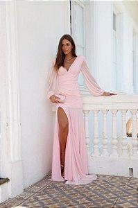 Vestido Mel Manga Longa