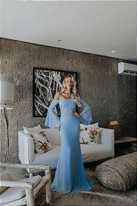 vestido maria azul
