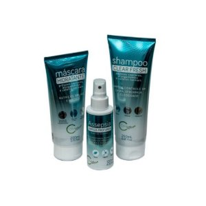 Kit Shampoo 250 ml, Máscara 200 ml e Assepsia 120 ml Clinicalvi