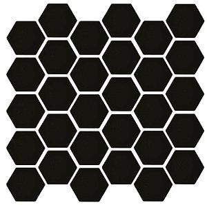 PASTILHA DE PORCELANA HEXAGONAL SIXTIES BLACK 5X5 CM