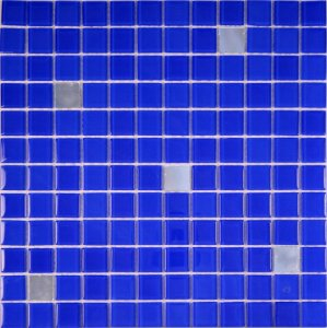 CRISTAL GLASS ESPELHO E AZUL CG42-CG27