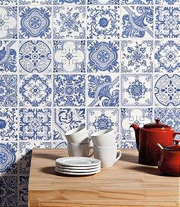 PATCHWORK BLUE 15X15 CM