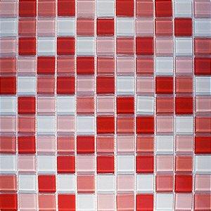 CRISTAL GLASS MIX VERMELHO/ROSA/BRANCO AH7