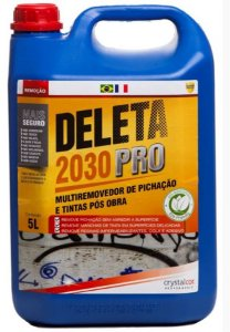 DELETA 2030 PRO REMOVEDOR DE PICHAÇÃO E TINTAS PÓS OBRA 5 LITROS - PERFORMANCE ECO