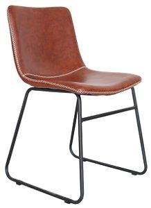Cadeira Oxford Estofada Caramelo Base Aço