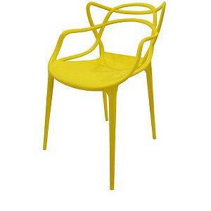 Cadeira Allegra Polipropileno Amarela