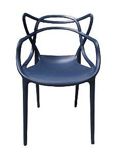 Cadeira Allegra Polipropileno promoção Azul Marinho