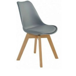 Cadeira Saarinen Wood Cinza