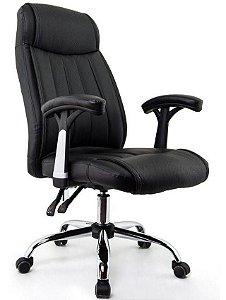 Cadeira De Escritório Lyon Presidente Preta