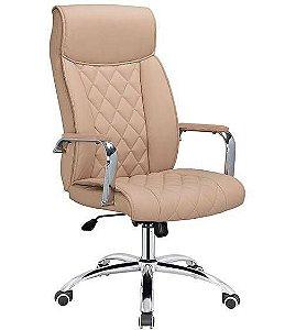 Cadeira de Escritório Presidente Giratória Premium Bege