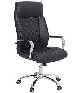 Cadeira de Escritório Presidente Giratória Premium Preta