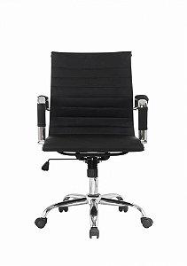 Cadeira Office Giratória Charles Eames Esteirinha Preta