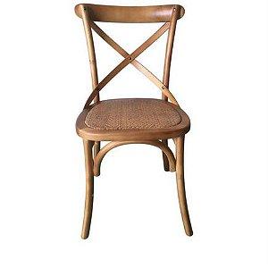 Cadeira Paris Madeira Natural Assento Palha
