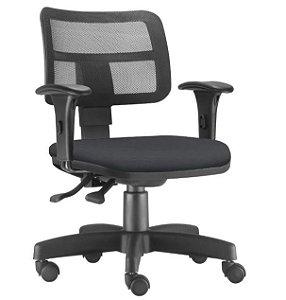 Cadeira Giratória Zip Secretária Executiva Ergonômica Preta