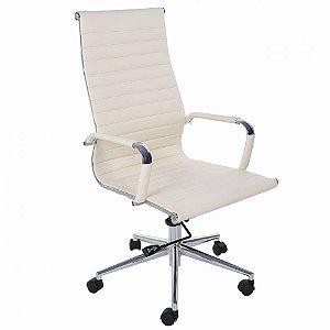 Cadeira Presidente Charles Eames Esteira Off White - Creme