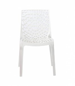 Cadeira Gruvyer Branca em Polipropileno Vazada