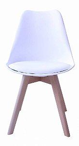 Cadeira Saarinen Wood Branca