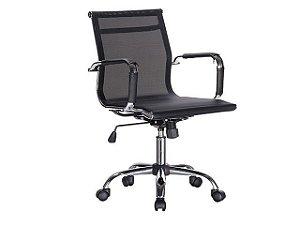Cadeira Diretor Eames Tela Preta