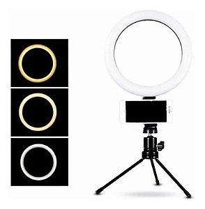 Ring light de mesa de 6 polegadas - 16cm